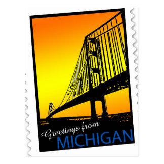 Cartão da ponte de Mackinac