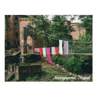 Cartão da ponte de Nepal Kali