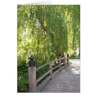 Cartão da ponte do jardim