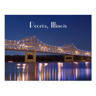 Cartão da ponte do padeiro de Peoria Illinois