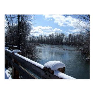 Cartão da ponte do rio de Boise