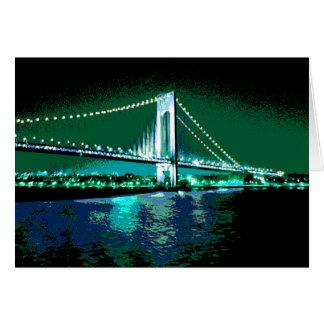Cartão da ponte dos verdes & dos azuis