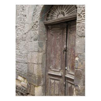 Cartão da porta da arquitetura do Cairo Egipto