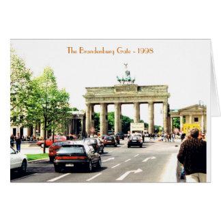 Cartão da porta de Brandemburgo