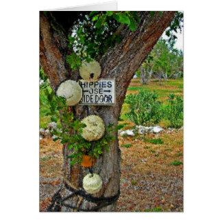 cartão da porta lateral do uso dos hippys