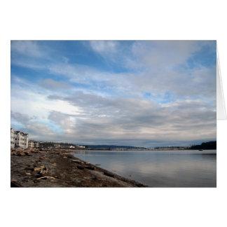 Cartão da praia da cidade do porto do carvalho