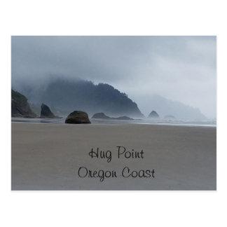 Cartão da praia da costa de Oregon do ponto do
