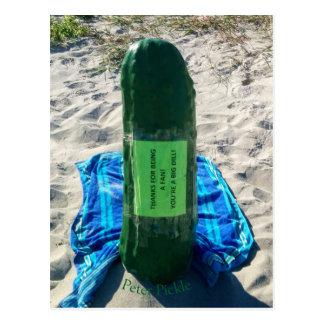 Cartão da praia da salmoura de Peter