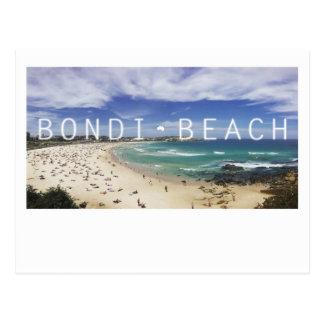 Cartão da praia de Austrália Bondi