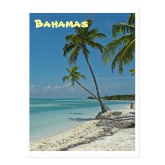 Cartão da praia de Bahamas