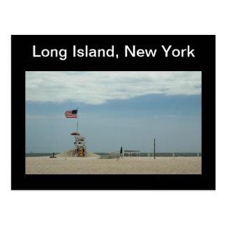 Cartão da praia de Long Island New York Jones