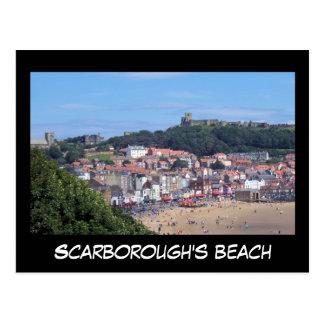 Cartão da praia de Scarborough