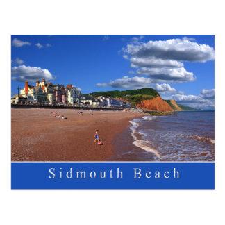 Cartão da praia de Sidmouth