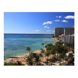 Cartão da praia de Waikiki