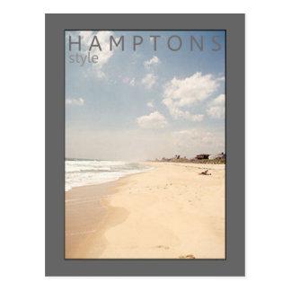 Cartão da praia do estilo de Hamptons