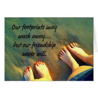 Cartão Da praia poema dos amigos para sempre