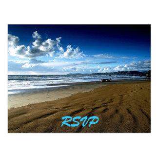 Cartão da praia RSVP Cartão Postal