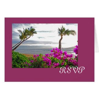Cartão da praia RSVP de Maui