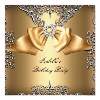 Cartão Da prata bege do arco do ouro do diamante