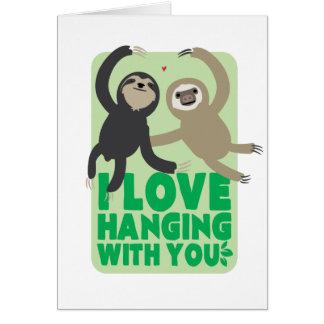 Cartão da preguiça