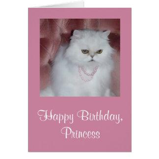 Cartão da princesa aniversário