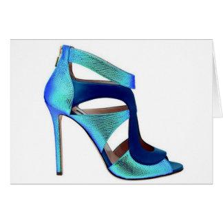 Cartão da princesa Cinderella Azul Calçados