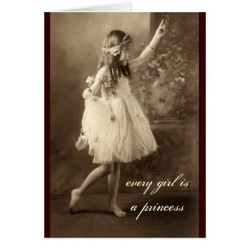 Cartão da princesa Dança da foto do vintage