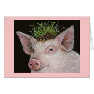 Cartão da princesa Porco