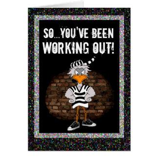 Cartão da prisão: Elabore o jailbird