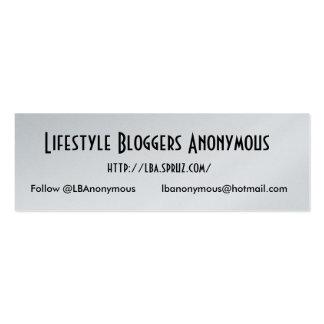 Cartão da promoção da platina de LBA Cartão De Visita Skinny