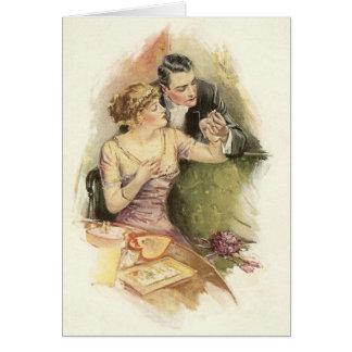 Cartão da proposta de casamento do noivado do