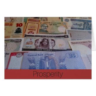 Cartão da prosperidade