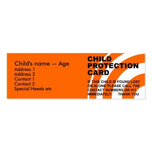 Cartão da proteção da criança modelos cartão de visita