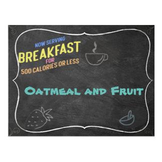 Cartão da receita da farinha de aveia e da fruta