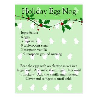 Cartão da receita da gemada do feriado