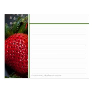 Cartão da receita da morango