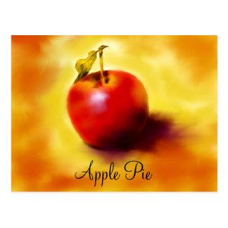 Cartão da receita da torta de Apple