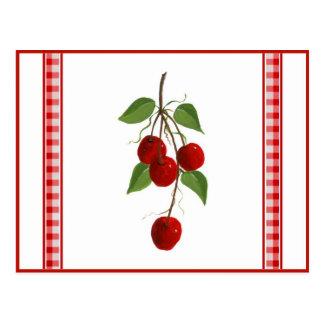 Cartão da receita das cerejas