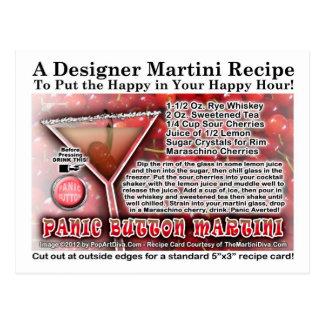 Cartão da receita de Martini do botão de pânico