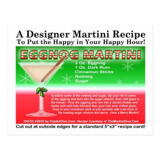 Cartão da receita de Martini do Natal da gemada