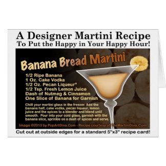 Cartão da receita de Martini do pão de banana