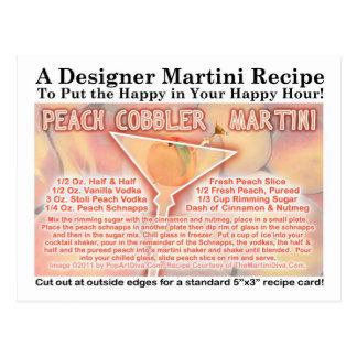 Cartão da receita de Martini do sapateiro de