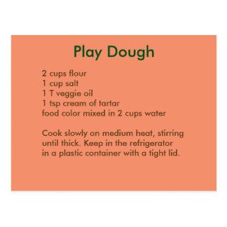 Cartão da receita de Playdough em cores do outono