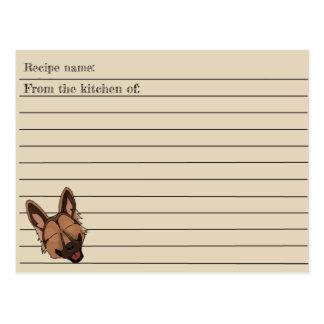 Cartão da receita do cão de german shepherd de