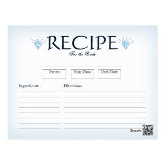Cartão da receita do chá de panela - design do