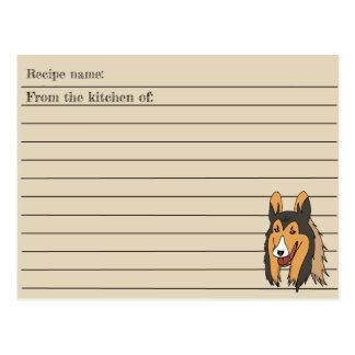 Cartão da receita do Collie