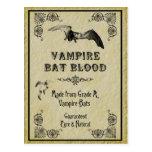 Cartão da receita do Dia das Bruxas do sangue do b Cartões Postais