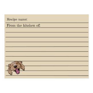 Cartão da receita do Retriever de Brown
