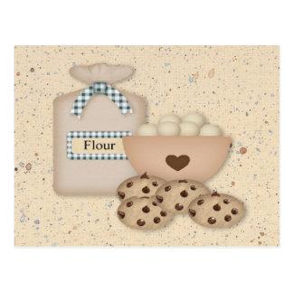 Cartão da receita dos biscoitos do cozimento