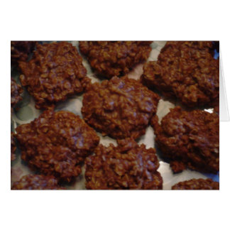 Cartão da receita dos biscoitos do No-Assar do